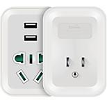 etman au us plug usb зарядное устройство Power Strips 1 розетки 2 порта USB 4.2a ac 220v-250v