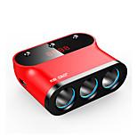 sast ay-t12 автомобильное зарядное устройство Быстрое зарядное напряжение дисплея 3 выхода 2 порта USB 3.1a dc 12v-24v