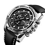 9156 skmei мужская мода спортивные военные часы хронограф кожаные мужские кварцевые наручные часы водонепроницаемые relogio masculino