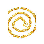 Муж. Ожерелья-цепочки В форме квадрата Геометрической формы Позолота Геометрический Хип-хоп Бижутерия Назначение Для улицы Для клуба