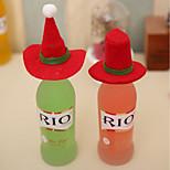 2шт нового Рождества маленькая шляпа рождества zhuangshimao рождественские бутылки украшение бутылка набор рождественские шапки