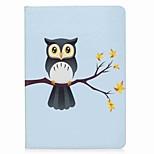 Назначение iPad (2017) Чехлы панели Бумажник для карт Кошелек со стендом Флип С узором Магнитный Чехол Кейс для Сова Твердый