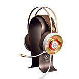 AJAZZ AX360Gold Головная повязка Проводное Наушники динамический Нержавеющая сталь Игры наушник Двойные драйверы Шумоизоляция С