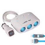 sast t11 автомобильное зарядное устройство Быстрое зарядное напряжение дисплея 3 выхода 2 порта USB 3.1a dc 12v-24v
