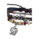 Муж. Жен. Кожаные браслеты Сердце Мода Кожа Сплав В форме сердца Птица Бижутерия Назначение Повседневные На выход