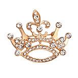 Жен. Броши Кристалл Стразы Мода Elegant Позолота Сплав В форме короны Бижутерия Назначение Повседневные Для вечеринок