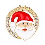 Муж. Жен. Броши Мода Chrismas Позолоченное розовым золотом Сплав Бижутерия Назначение Рождество Новый год