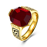 Муж. Классические кольца Рубин Мода Нержавеющая сталь Круглой формы Бижутерия Назначение Для вечеринок Повседневные