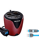hsc hsc200 автомобильное зарядное устройство Напряжение дисплея 2 выхода 2 порта USB 3.1a dc 12v-24v с зарядным кабелем