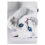 для чехлов держатель карты держатель кошелек с подставкой флип-паттерн полный корпус чехол кошка твердая кожа pu для яблока ipad pro 10.5
