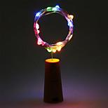 2m 20led пробковая пробковая бутылка стопорная лампа стекло вино серебро медь проволока строка освещение рождественская вечеринка