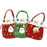 3pc милый рождественский мешок подарок xmas Санта Клаус лечения сумки дети тотализатор мешок конфеты куки настоящее мешок рождественские