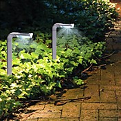 2pcs 4-LED Plastic Solar Garden Lighting Mini LED Lamp 7 style spike light