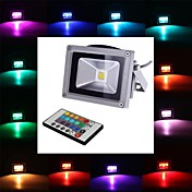 10W 1 Integrate LED 900 LM RGB Remote-Controlled LED Flood Lights DC 12 / AC 12 V