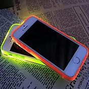 New Visor Call LED Blink Transparent TPU Back Cover Case For iPhone 6/6S(Assorted Colors)