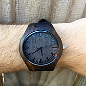 Mens Dark Ebony Real Wood Watch, Engraved Wooden Watch, Gift For Him, Mens Wooden Watch