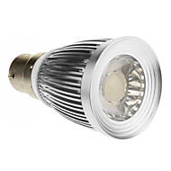 B22 7 W 1 COB 600-630 LM Cool White Spot Lights AC 85-265 V