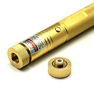 LT-303 Zoom Ljus Match grön laserpekare (4MW, 532nm, 1x18650, gyllene)