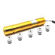 LT-05 la luz del zumbido de ajustes de puntero láser verde (1MW, 532nm, 1x18650, de oro)