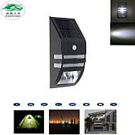 Solar Panel Powered Human Body Motion Sensor Wall Lamps Garden Outdoor Sconce Night Lights