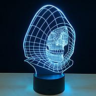 novità 3d lampada luce cranio led decorazione luci con la lampada di potenza USB come halloween feste regali