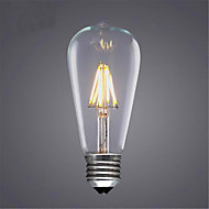 AC 220-240V 8W E26/E27 LED Filament Bulbs ST64 8 SMD 5730 580 lm Warm White / Cool White / Yellow Decorative V 1 pcs