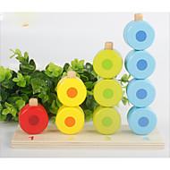 pedagogisk leksak för Gift Byggklossar Cylindrisk Bambu över 3 Silver / Grå / Brun / Vit Leksaker