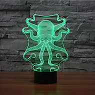 Octopus Touch Dimming 3D LED Night Light 7Colorful Decoration Atmosphere Lamp Novelty Lighting Christmas Light