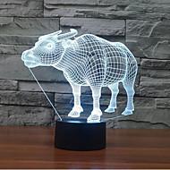 buffalo kosketa himmennys 3d johti yövalo 7colorful koristeluun ilmapiiri valaisin uutuus valaistus joulu valo