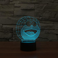 Doraemon Touch Dimming 3D LED Night Light 7Colorful Decoration Atmosphere Lamp Novelty Lighting Christmas Light