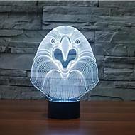 Eule Touch Dimm-3D LED-Nachtlicht 7colorful Dekoration Atmosphäre Lampe Neuheit Beleuchtung Weihnachtslicht