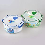 bpa comida gratis microondas grado cuenco de la comida del horno con el divisor