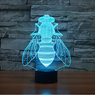Fly Touch Dimming 3D LED Night Light 7Colorful Decoration Atmosphere Lamp Novelty Lighting Christmas Light