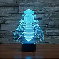 voler tactile gradation 3d conduit de lumière de nuit lampe atmosphère décoration 7colorful éclairage nouveauté lumière de Noël