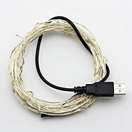 5m USB-5v 50LED wasserdichte Dekoration führte Kupferdraht-Leuchten String für Weihnachtsfest Hochzeit Party Terrasse dekorative Leuchten
