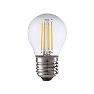 4W E26/E27 Lampadine LED a incandescenza P45 4 COB 300 lm Bianco caldo Decorativo V 1 pezzo