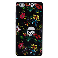 For HUAWEI P8Lite Y5II Y6II Case Cover Flower Pattern Black TPU Material Phone Shell