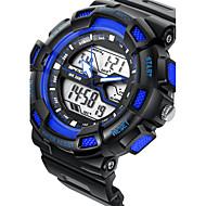 SANDA Couple Montre de Sport Montre Militaire Smart Watch Montre Tendance Montre BraceletLED Chronographe Etanche Double Fuseaux Horaires