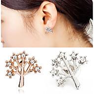 Women's Gold Silver Black Christmas Tree Life Stud Earrings (1 Pair)