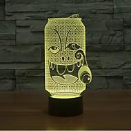 עישון בקבוק עמעום מגע 3D LED מנורת לילה מנורת אווירת קישוט 7colorful תאורת חידוש אור חג המולד
