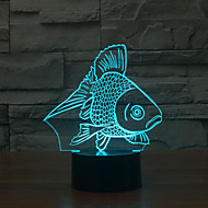Fish Touch Dimming 3D LED Night Light 7Colorful Decoration Atmosphere Lamp Novelty Lighting Christmas Light