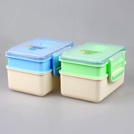 PP Plastic Type Double Layer Bento Lunchboxes
