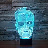 Schwarzenegger Touch Dimming 3D LED Night Light 7Colorful Decoration Atmosphere Lamp Novelty Lighting Christmas Light