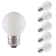 2W E26 LED Filament Bulbs G16.5 2 COB 200 lm Miky White Dimmable 120V 6 pcs