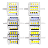 10W R7S LED Floodlight Tube 24 SMD 5730 880 lm Warm White / Cool White Decorative AC85-265 V 6 pcs