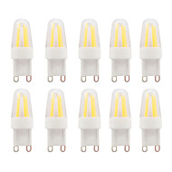 3W G9 LED Bi-pin Lights G95 COB 230-250 lm Warm White Waterproof AC110/AC220V 10 pcs