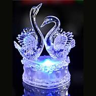 ledede krystal to svane farverige dekoration atmosfære lampe nyhed belysning christmas lys