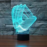 Rękawice dotknij ściemniania 3d led lampka nocna lampka 7colorful dekoracji atmosfera nowość oświetlenie Boże światło