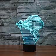 elettrico tocco trapano oscuramento 3d ha condotto la luce di notte 7colorful lampada atmosfera decorazione di illuminazione novità luce