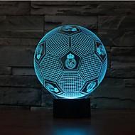 Football Dimming 3D LED Night Light 7Colorful Decoration Atmosphere Lamp Novelty Lighting Christmas Light